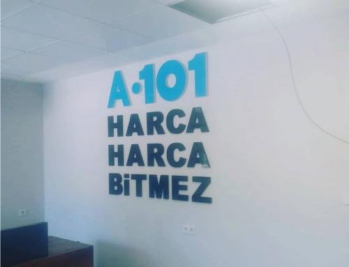 A101 Harca Harca Bitmez Duvar Üzeri Kabartma Harf